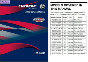evinrude e tec 25 30 hp outboard motor service repair manual cd rh ebay com 1992 evinrude 30 hp service manual Evinrude 25 HP Parts Diagram