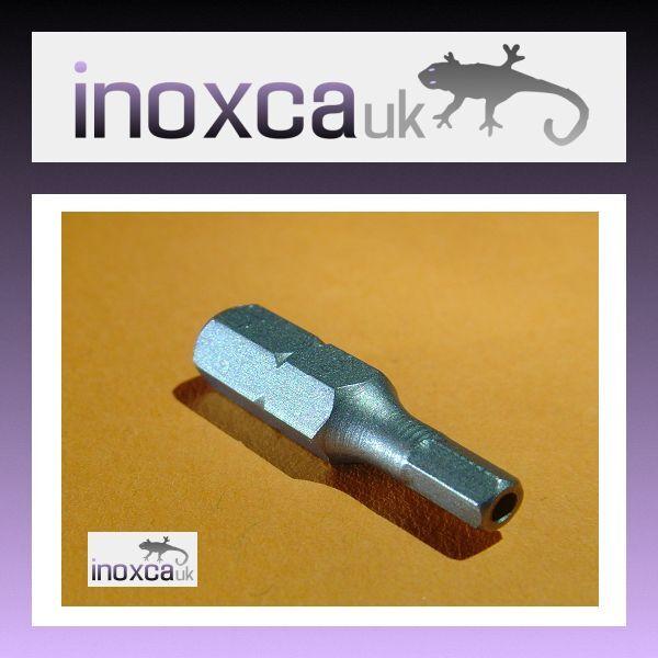 50 @ 4mm A F HEXAGONALE BROCHE sécurité BOUT ANTI TRAFIC VANDALISME 0.6cm