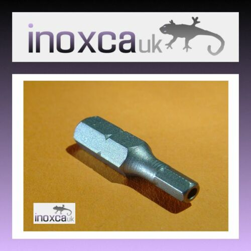 "1 @ 3mm a//f hex goupille de sécurité bit anti tamper vandal 1//4/"" hexagonal drive cr-v"