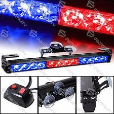 "14"" LED Red Blue Light Emergency Warning Strobe Flashing Bar Hazard Security"