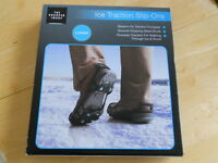Ice Traction Slip Ons - Size Large - From The Sharper Image - Factory Sealed