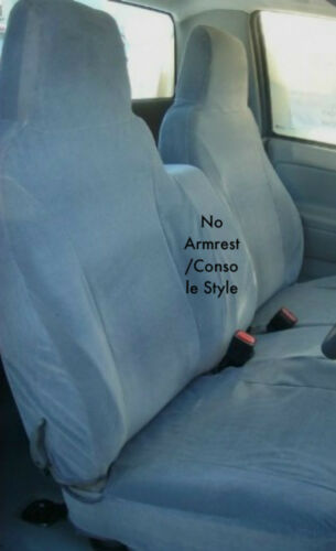 CHEVY COLORADO 2004-2012 SEAT COVERS 60//40 NO ARMREST-CONSOLE STYLE CHARCOAL