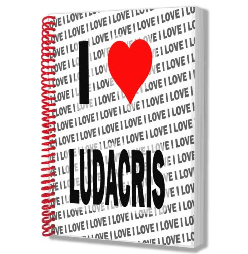 I Love Ludacris A5 Notebook Pad Diary Drawings Birthday Christmas Gift