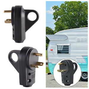 RV/Trailer/Cam<wbr/>per Replacement Male Plug With Handle Connect 10AWG/3C RV Cord