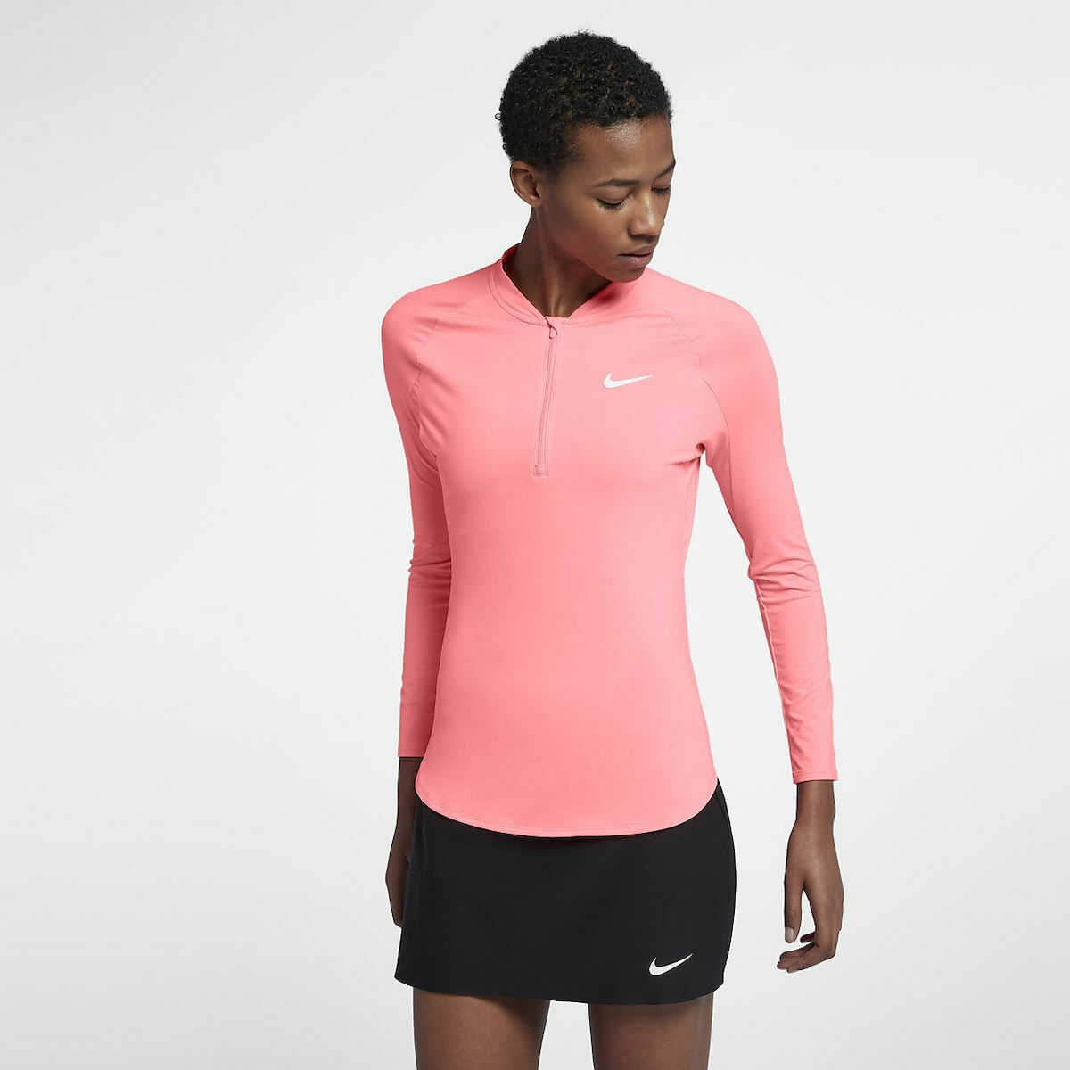 Womens NIKE COURT PURE 1 2 Zip TENNIS TOP. Size Large. 888170-676
