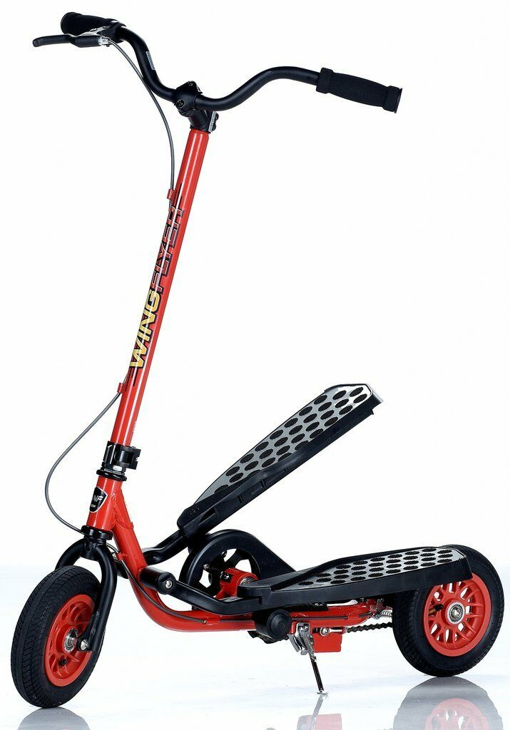 WingFlyer Zike Z100 Kids ROT Ages 6-10 Stepper Scooter Fire Engine ROT Kids - Ships Free ecc4fc