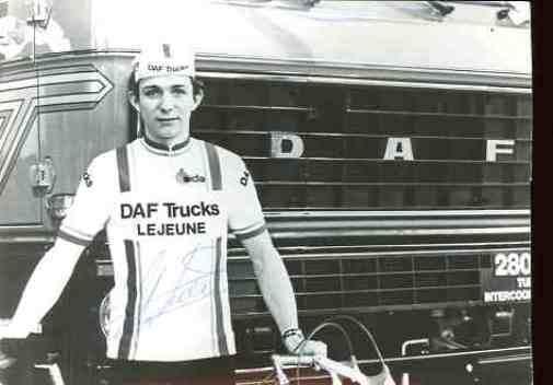 WILLIAM TACKAERT team DAF Lejeune Trucks Trucks Lejeune Signed Autograph cycling Signé cyclisme b40cb7