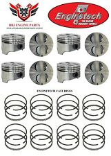 Ford Mercury 289 302 50 Enginetech Flat Top Pistons 8 With Cast Rings 64 85