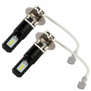 Nighteye-H3-160W-LED-Fog-Light-Bulbs-Car-Driving-Lamp-DRL-White-Super-Bright-New