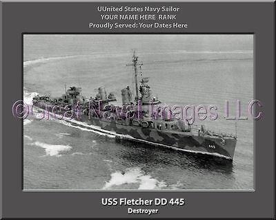 USS Abbot DD 629 Personalized Canvas Ship Photo Print Navy Veteran Gift