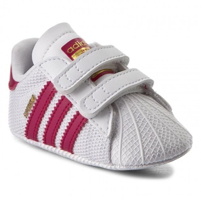 adidas Baby Shoes Superstar Crib S79917 White Pink 19