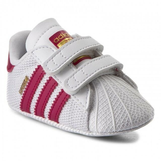 bbd1e31f952 Adidas Originals Superstar Crib Shoes Baby Infant Girls Trainers - S79917