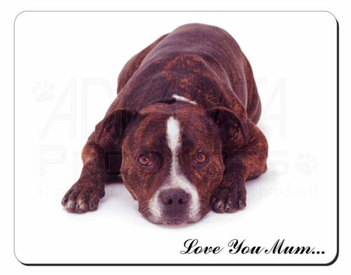 Staffie Bull Terrier 'Love You Mum' Computer Mouse Mat Christmas Gi, ADSBT2lymM