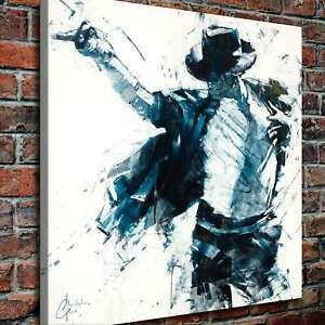 Image Is Loading Michael Jackson Poster Hd Print On Canvas Home