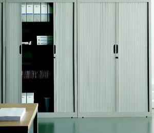 Armadio per archivio ufficio ad ante a serrandina mis.120x45x198h grigio