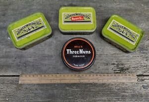 Collectable Vintage Tobacco Tin Bundle Job Lot  - 4 x 2oz Tins