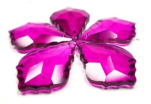 5-Magenta-French-Cut-50mm-Chandelier-Crystals-Glass-Pendants