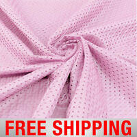 Football Basketball Jersey Mesh Fabric Sports Baby Pink 60 Wide Free Shipping