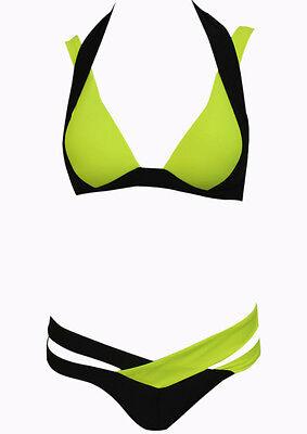 Women's Contrast Color Bra Set Bathing Suit Swimwear Two-piece Bikinis Set