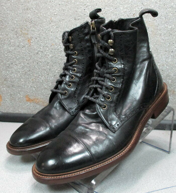 271385 PFiBT60 Men's Boots 9 M Black Leather Made in Italy Johnston & Murphy
