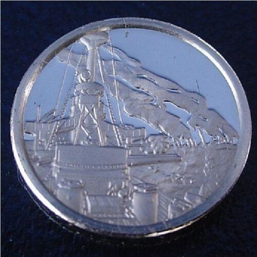 Franklin Mint Sterling Silver Mini-Ingot 1898 Spanish-American War