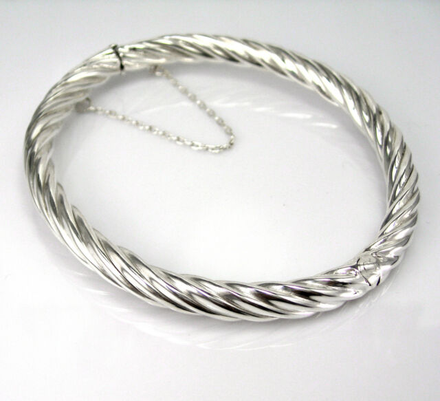 SHANTPETER BRAND VARIETY OF SIZES MADE IN U.S.A STERLING SILVER 925 BANGLE
