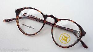 Kleine-Brillen-Brillenfassung-Klassiklook-Pantoform-Hornoptik-braun-Groesse-M