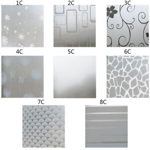Self Adhesive Glass Film Window Sticker Bathroom Glass Sticker PVC Frosted GIFT