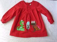 Lourdes Spain Boutique Red Dino Long Sleeve Dress Girls Sz 5