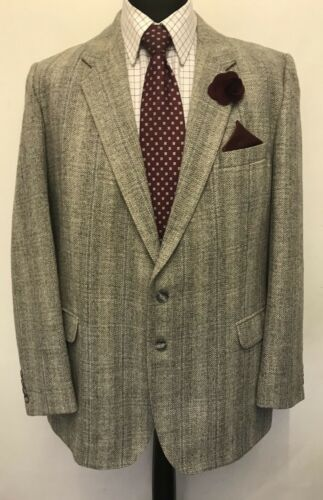 Men's 46m Ms2449 Tweed Grey Checked Jacket St Blazer Michael Size Like pPOPvEqf