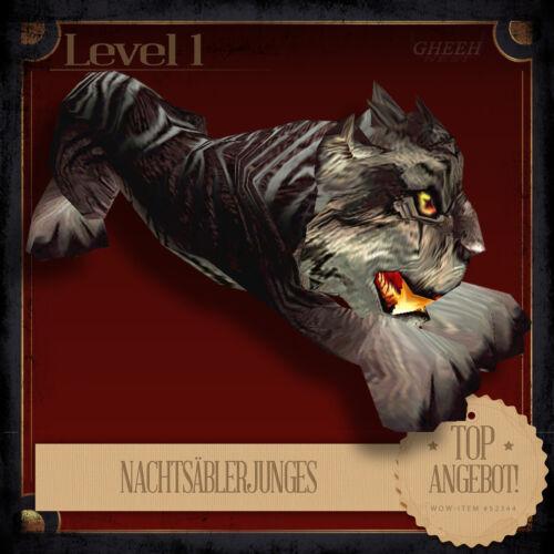» NachtsäblerjungesNightsaber CubWoWWorld of WarcraftTCG Haustier «