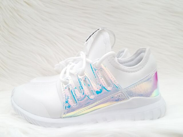 adidas Tubular Radial K Iridescent Hologram GS Aq6281 Boys Girls ... 7d23c4e44