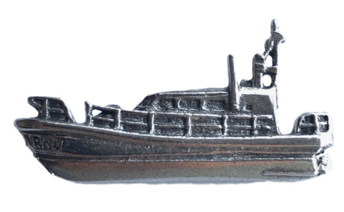 WA Maritime Life Boat Handmade From Lead Free Pewter Lapel Pin Badge