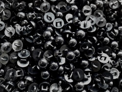 Small 11mm 18L Black Polished Shank Buttons Children Craft Scrap Book S22