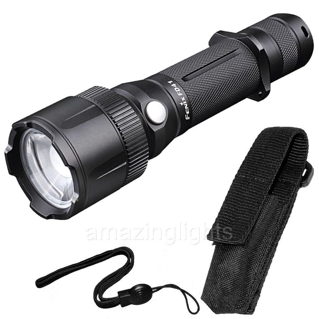 Fenix FD41 900 Lumens Zoomable Spotlight CREE XP-L HI LED Flashlight