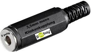 Lötversion 90° Winkelstecker Klinken Stecker 3,5mm z Löten 2 polig Klinke mono