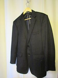 veste-blazer-BRUNO-SAINT-HILAIRE-taille-50-bleu-marine
