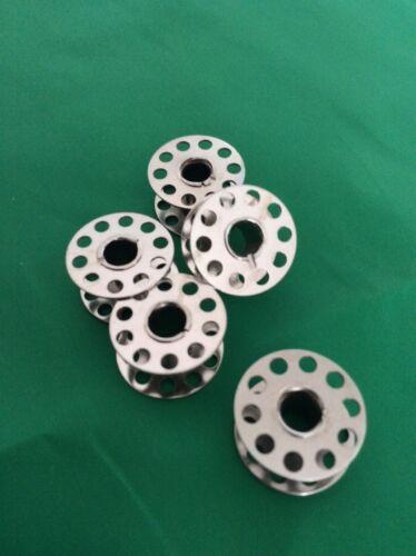 5 Paquete de metal para máquina de coser Bobinas Freepost