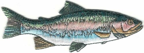 Realistic Rainbow Trout Game Sport Trophy Fish Embroidery Patch