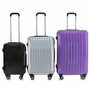 d2ffb0bf1 Hard Shell ABS Trolley Case 4 Spinner Wheels Suitcase Luggage ...