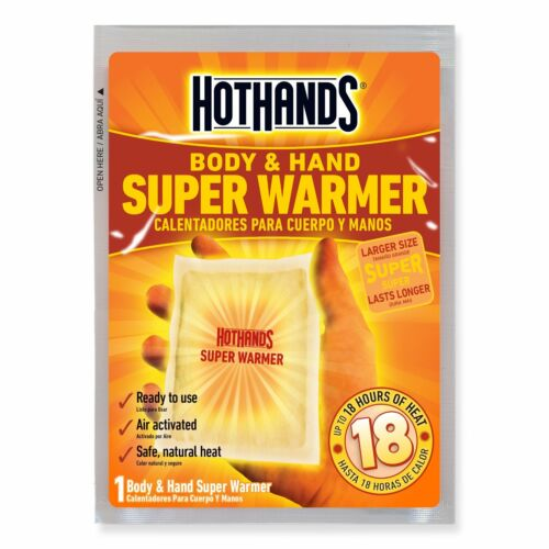 HotHands Body /& Hand Super Warmers Long Lasting Safe Natural Odorless 10 Pair