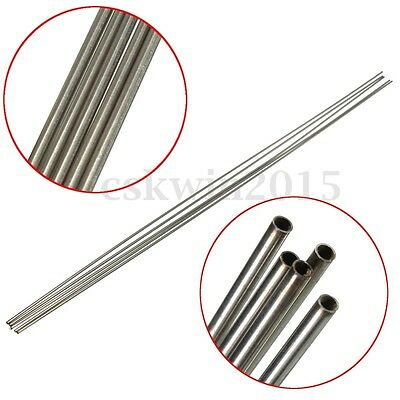 2Pcs OD 2mm x 1.6mm ID 304 Stainless Steel Capillary Tube Length 500mm Pipe