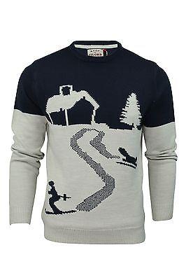 Mens Christmas Jumper Xmas Winter Snow Scene