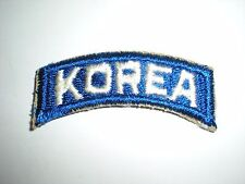 US ARMY KOREA TAB PATCH - ORIGINAL WHITE ON BLUE