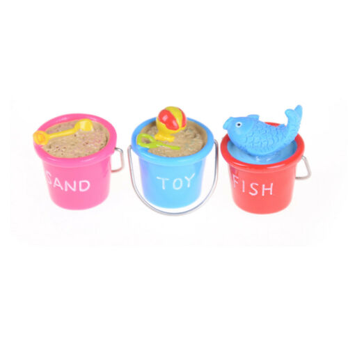1:12Dollhouse Miniature DIY Model Toys SceneAccessories Beach Bucket Ornament ST