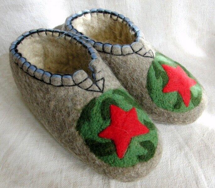 Valenki 100% Lana ruso Zapatillas Zapatos Calzado saludable de fieltro (UE 44)