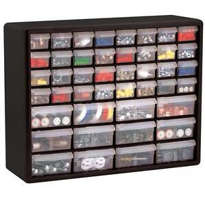 Craft cabinet storage organizer drawer bins sewing box for Plastic craft storage drawers