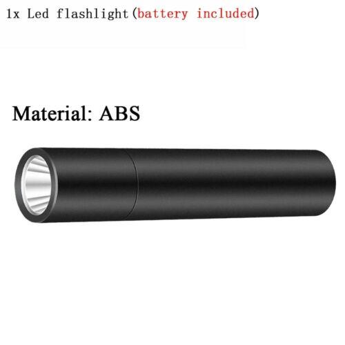3 Modes Portable lampe de poche DEL torche intégrée Batterie Rechargeable USB Mini