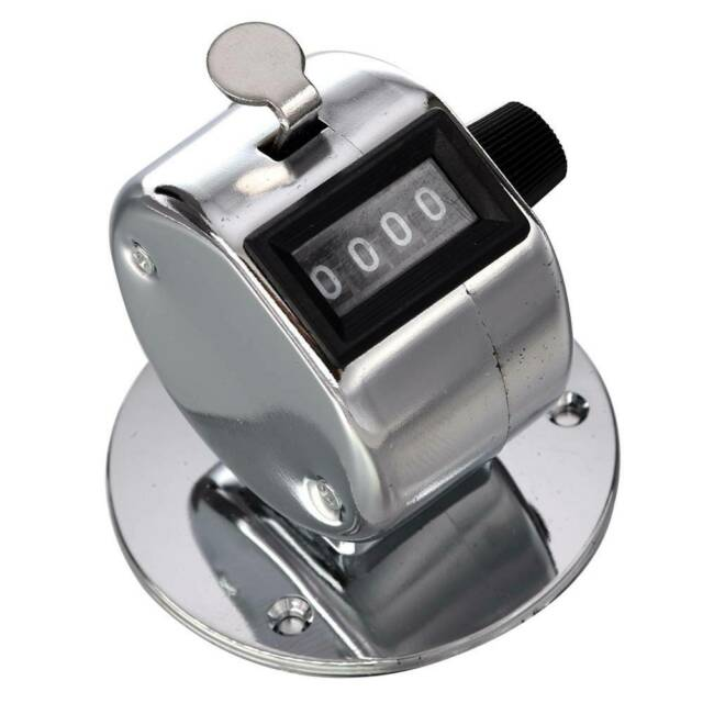 Golf Clicker 4 Digit Desktop Mechanical Counting Counter with Base Useful