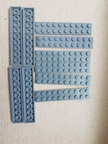 Lego 3832 Dark Bluish Grey 2 x 10 Plates Parts Bricks PACK OF 10